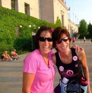 Renee and me after one of our 40 Mile Avon Walks for Breast Cancer