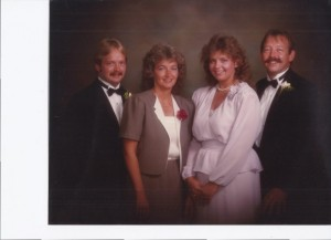 LeeAnn (in pink) with her sister, Diane and two brothers.