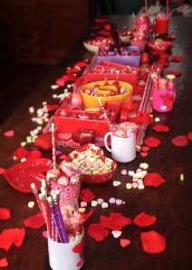 Valentine's Day breakfast table!