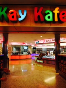 This 'Kafe' sponsored by Kay Jewelers, offers healthy food literally grown in the garden on site, so that nutritional value is not lost in the transportation of fresh fruits and veggies. No processed foods either!  The Chef here has been known to hide beets and kale in brownies and call kids' grandmas to get the secret recipe for their favorite dishes, so they will eat and grow stronger.