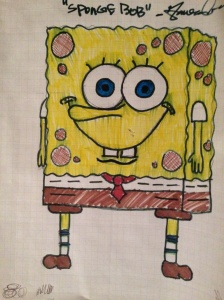 Spongebob- drawn by my son, Jamison. :-)